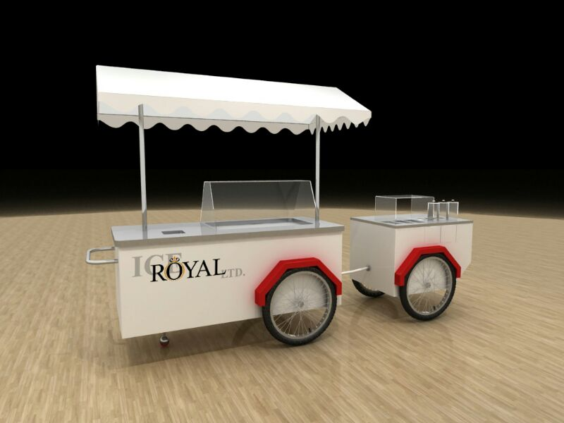 Ice cream carts and stands
